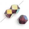 "Glass Cut Cube Facetted 6X6mm 16"" Jet/Multi Iris - Strung"